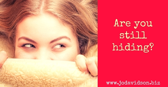 Jo Davidson Blog: Woman hiding behind blanket